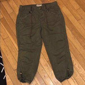 Free People Capri jogger pants bottoms denim jeans